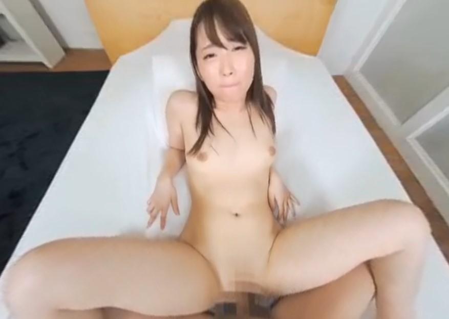 (VR)西城柊香 色白美乳な彼女のパイパンまんこに膣内射精でアヘ顔